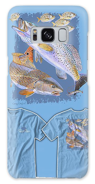 Bahamas Galaxy Case - Red Trout by Carey Chen