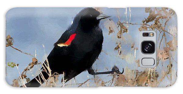 Redwing Blackbird Galaxy Case by Betty LaRue
