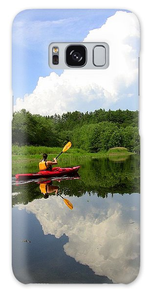 Reflection Of A Kayaker On The Merrimack Galaxy Case