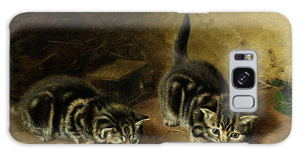 Tabby Galaxy Case - Reluctant Playmate by Horatio Henry Couldery