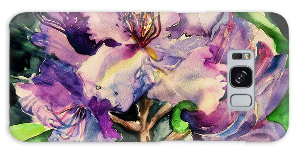 Rhododendron Violet Galaxy Case by Mindy Newman