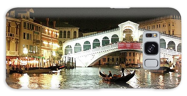 Rialto Bridge Night Scene Galaxy Case
