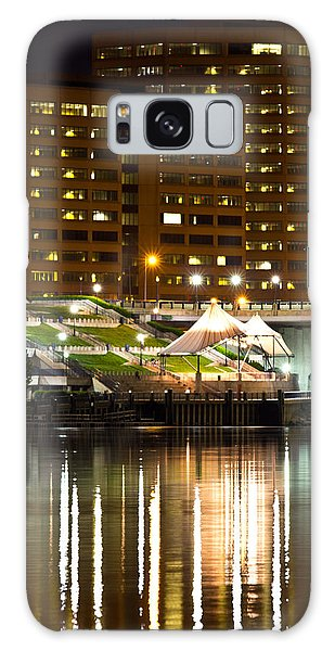 River Front At Night Galaxy Case