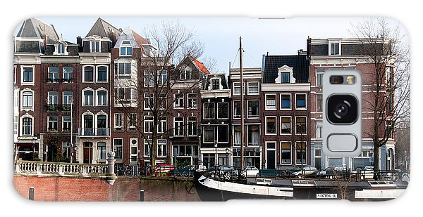 River Scenes From Amsterdam Galaxy Case by Carol Ailles