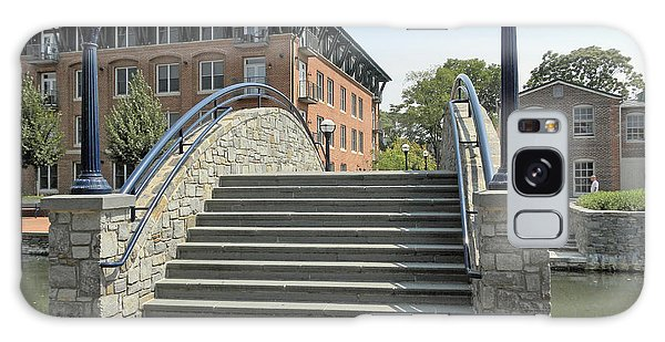 River Walk Bridge In Frederick Maryland Galaxy Case by J Jaiam
