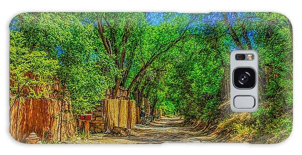 Road To Santa Fe Galaxy Case by Ken Stanback