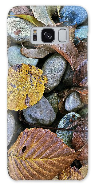Rocks And Leaves Galaxy Case by Bill Owen