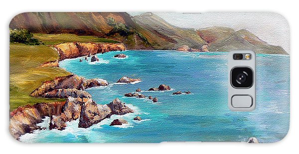 Rocky Point At Big Sur Galaxy Case by Terry Taylor