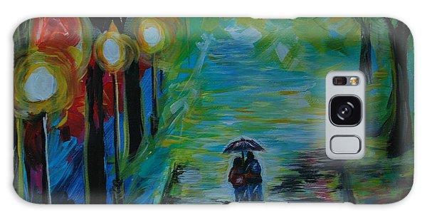 Romantic Stroll Series 1 Galaxy Case by Leslie Allen