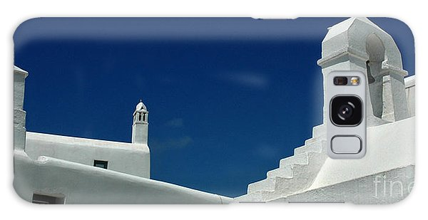 Rooftops Of Mykonos Galaxy Case by Vivian Christopher