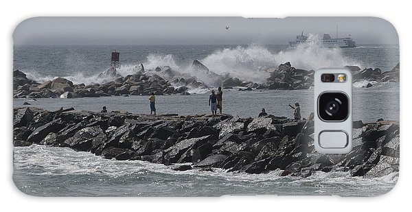 Rough Seas To Block Island Galaxy Case