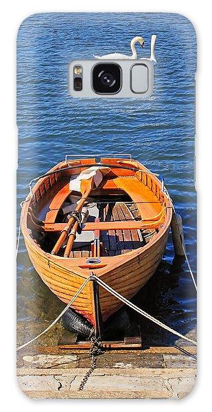Swan Boats Galaxy Case - Rowboat by Joana Kruse