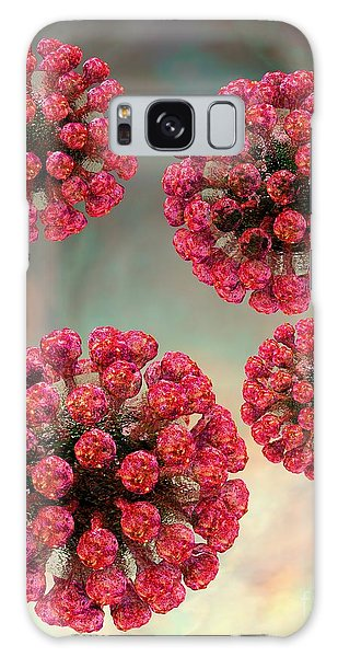 Galaxy Case featuring the digital art Rubella Virus Particles by Russell Kightley