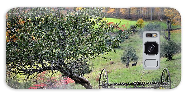 Rural Vermont Scenic-hayrake On The Pasture   Galaxy Case