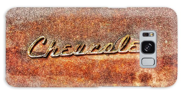 Rusted Antique Chevrolet Logo Galaxy Case by Dan Stone