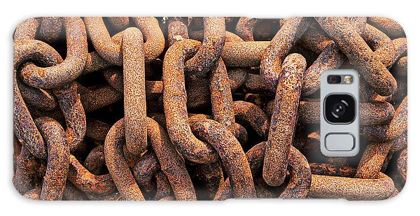 Rusty Chain Galaxy Case - Rusty Ships Chain by Garry Gay