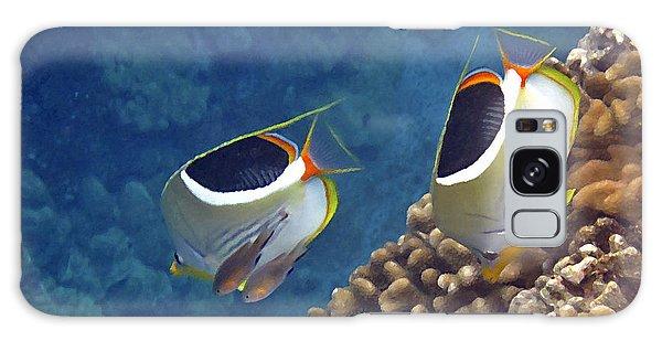 Saddleback Butterflyfish Galaxy Case