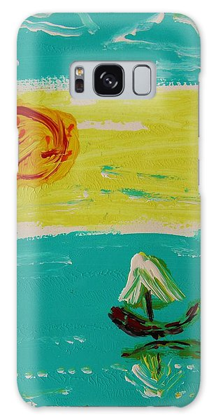 Sail And Hot Sun Galaxy Case by Mary Carol Williams