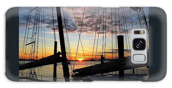 Sail At Sunset Galaxy Case