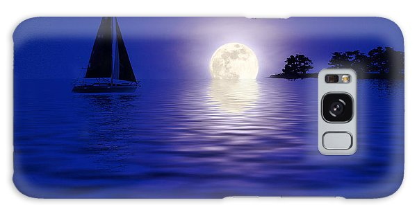 Sailing Into The Moonlight Galaxy Case by Cindy Haggerty