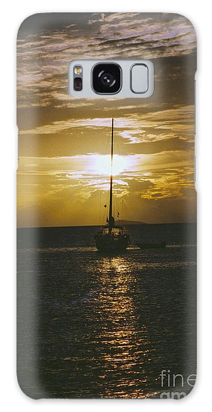 Sailing Sunset Galaxy Case by William Norton