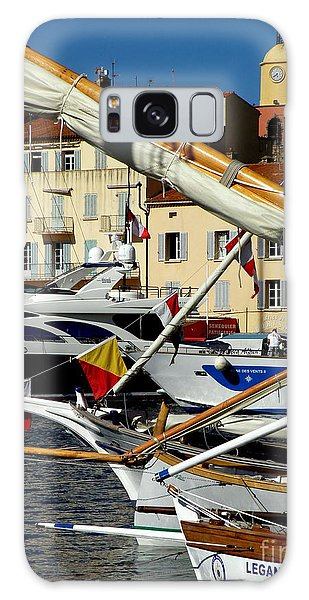 Saint Tropez Harbor Galaxy Case by Lainie Wrightson