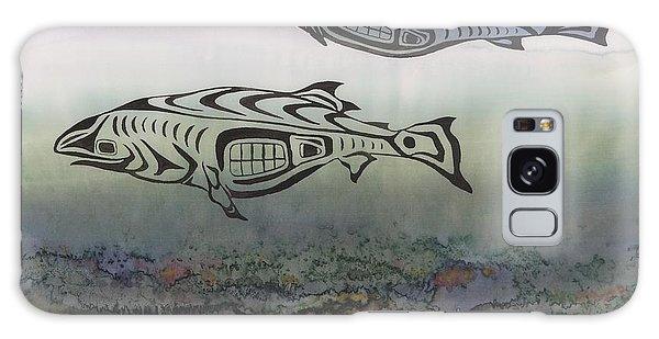 Salmon Stream Galaxy Case by Carolyn Doe