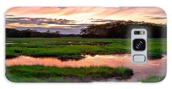 Salt Marsh Sunset Galaxy Case