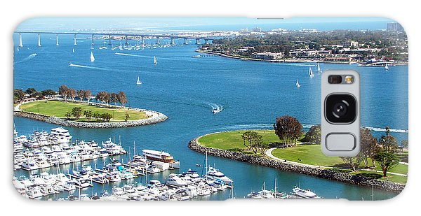 San Diego Marina And Bay Galaxy Case by Cedric Hampton