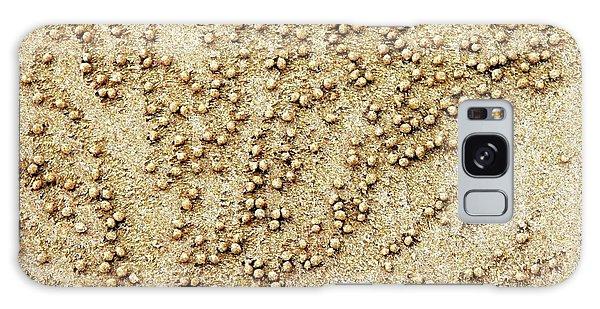Galaxy Case - Sand Crabs by Karen Elzinga