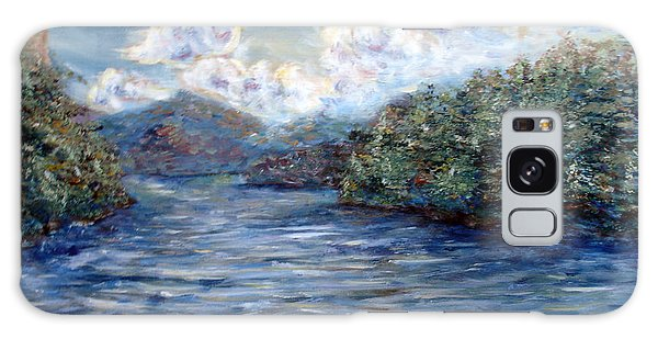 Saranac Lake On A Summer Evening Galaxy Case by Denny Morreale