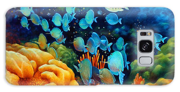 Sea Escape II - Wayward Fish Galaxy Case by Nancy Tilles