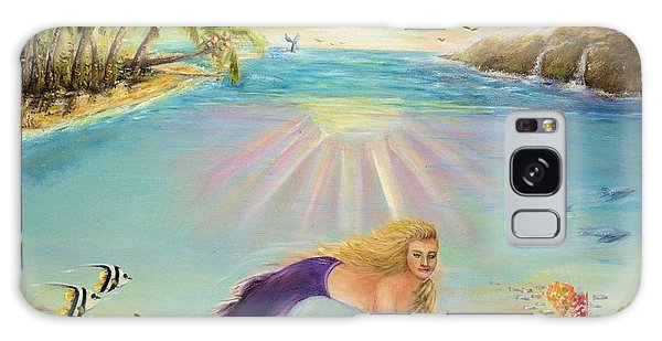 Sea Mermaid Goddess Galaxy Case by Bernadette Krupa
