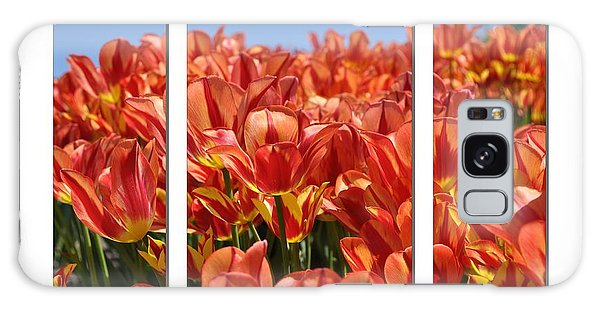 Sea Of Tulips Galaxy Case by Elaine Manley