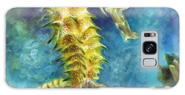 Seahorse I Galaxy Case by Nancy Tilles