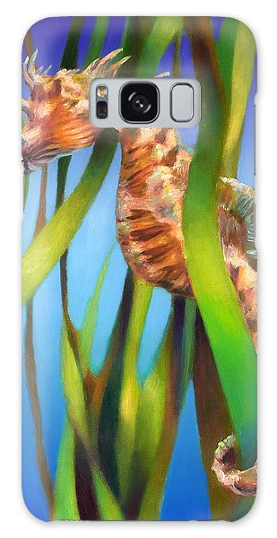 Seahorse II Among The Reeds Galaxy Case by Nancy Tilles
