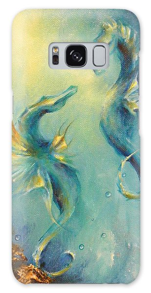 Seahorses In Love 4 Galaxy Case by Dina Dargo