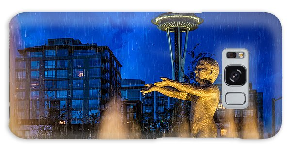 Seattle Rain Boy Galaxy Case