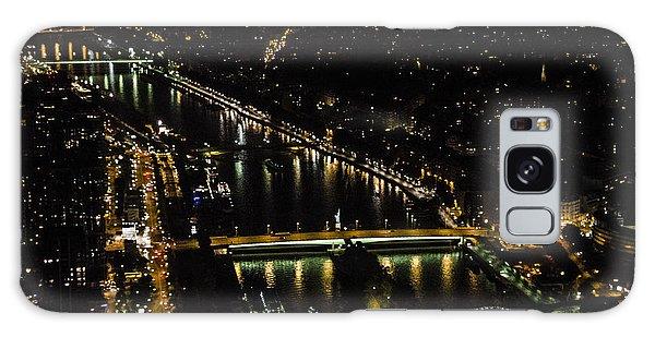 Seine River Atop The Eiffel Tower Galaxy Case