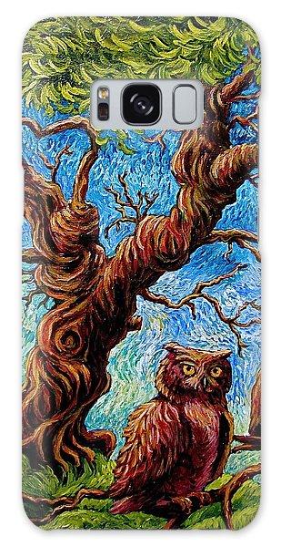 Sentient Owls Galaxy Case by Sebastian Pierre
