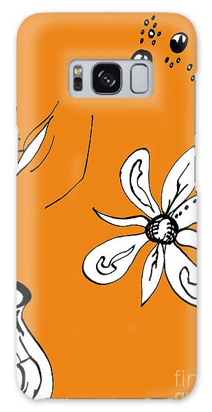 Serenity In Orange Galaxy Case