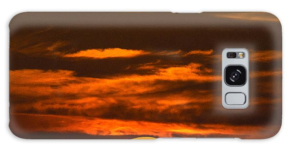 Setting Sun Flyby Galaxy Case by Shannon Harrington