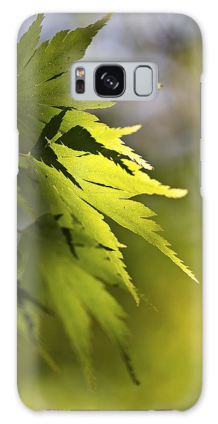 Shades Of Green And Gold. Galaxy Case by Clare Bambers