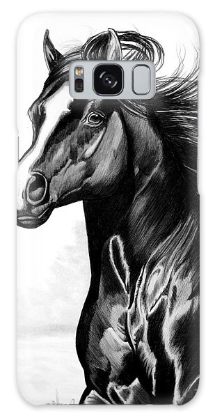 Shading Of A Horse In Bic Pen Galaxy Case