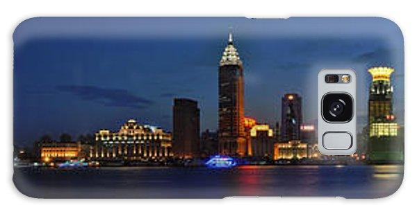 Shanghai Bund Panorama - Night Galaxy Case