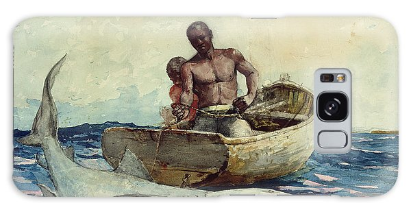 Shark Fishing Galaxy Case by Winslow Homer