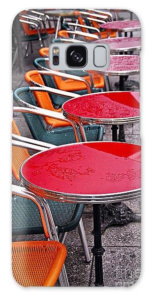 Street Cafe Galaxy Case - Sidewalk Cafe In Paris by Elena Elisseeva