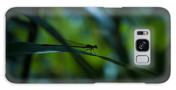 Silhouette Of A Damselfly Galaxy Case