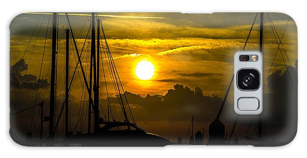Silhouettes At The Marina Galaxy Case by Shannon Harrington