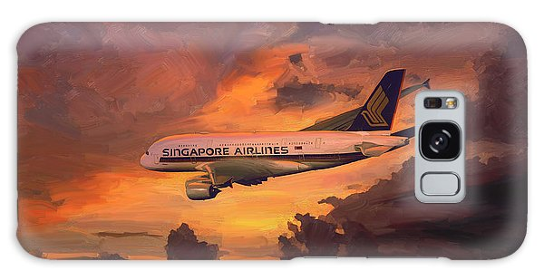 Singapore Airlines A380 Galaxy Case by Nop Briex